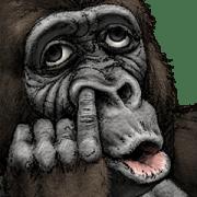 สติ๊กเกอร์ไลน์ Gorilla Gorilla Big Stickers