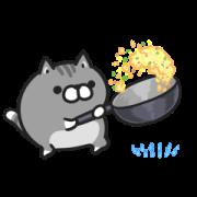 สติ๊กเกอร์ไลน์ Plump Dog & Plump Cat Animated 4