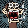 LINEスタンプランキング | イラッと動く★お猿さん6