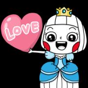 สติ๊กเกอร์ไลน์ Ms Big Royal Style Animated Stickers