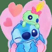 สติ๊กเกอร์ไลน์ Stitch Big Stickers (Cuddly)