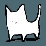 สติ๊กเกอร์ไลน์ emotional simple cat