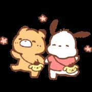 สติ๊กเกอร์ไลน์ Sanrio Characters & LittlePopcorn