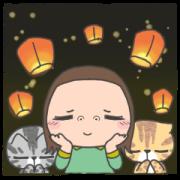 สติ๊กเกอร์ไลน์ Cha Bao Mei  Effect Stickers