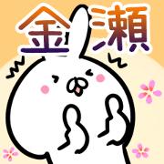 สติ๊กเกอร์ไลน์ Kanase usagi namae Sticker