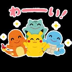 สติ๊กเกอร์ไลน์ Irasutoya × Pokémon Pika Pika Stickers
