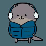 สติ๊กเกอร์ไลน์ Otter kawaii sticker