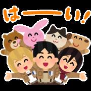 สติ๊กเกอร์ไลน์ Attack on Titan × Irasutoya Stickers