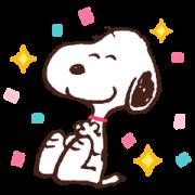 สติ๊กเกอร์ไลน์ Winter Snoopy Moving Backgrounds