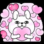 สติ๊กเกอร์ไลน์ YOSISTAMP-Rabbit 100% Pop-Up Stickers