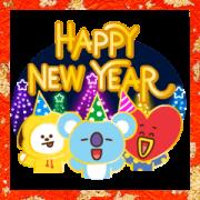 สติ๊กเกอร์ไลน์ BT21 New Year's Animated Stickers