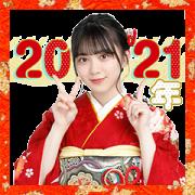 สติ๊กเกอร์ไลน์ Sakurazaka46 New Year's Voice Stickers