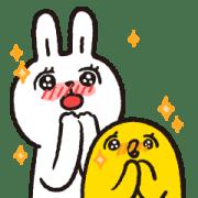 สติ๊กเกอร์ไลน์ Lazy Rabbit & Mr.Chu X'mas Stickers