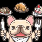 สติ๊กเกอร์ไลน์ French Bulldog PIGU-Ani Stickers XVIII