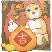 สติ๊กเกอร์ไลน์ Cat's Lifestyle CNY Big Stickers