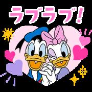 สติ๊กเกอร์ไลน์ Donald & Daisy Couples Stickers