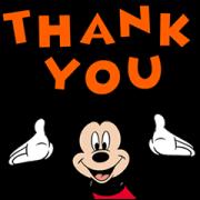 สติ๊กเกอร์ไลน์ Moving Mickey Mouse