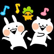 สติ๊กเกอร์ไลน์ Usagyuuun and Nekogyuuun