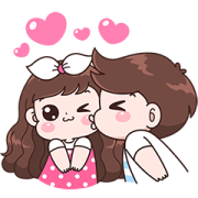 สติ๊กเกอร์ไลน์ Boobie Couple Effect Stickers