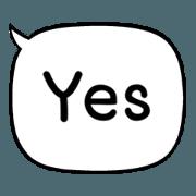 สติ๊กเกอร์ไลน์ ข้อความสำเร็จรูป 2 (ชุด yes)