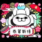 สติ๊กเกอร์ไลน์ YOSISTAMP-100% Rabbit Happy New Year