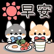 สติ๊กเกอร์ไลน์ Shibainu Twins