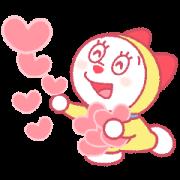 สติ๊กเกอร์ไลน์ Doraemon Pair Stickers (Dorami)