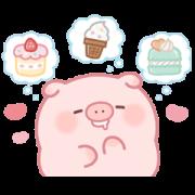 สติ๊กเกอร์ไลน์ Puni Puni Pig Sweets