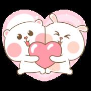สติ๊กเกอร์ไลน์ Sweet Marshmallow Couple 3