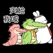สติ๊กเกอร์ไลน์ Buddy Gator 3