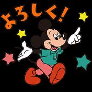 สติ๊กเกอร์ไลน์ Mickey and Friends: Retro