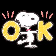สติ๊กเกอร์ไลน์ Basic Daily Snoopy Stickers