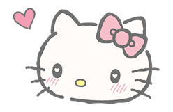 Hello Kitty (with Tiny Chum) sticker #42093