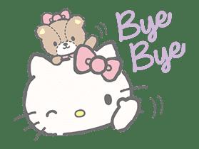 Hello Kitty (with Tiny Chum) sticker #42097