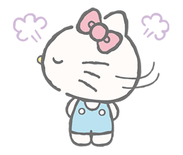 Hello Kitty (with Tiny Chum) sticker #42109