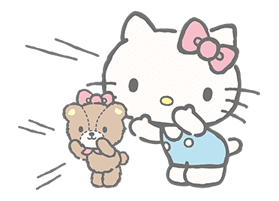 Hello Kitty (with Tiny Chum) sticker #42111