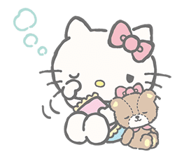 Hello Kitty (with Tiny Chum) sticker #42130