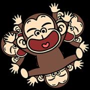 สติ๊กเกอร์ไลน์ Funny Monkey Pop-Ups 3