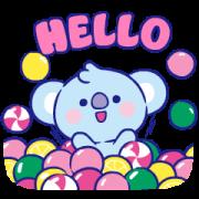 สติ๊กเกอร์ไลน์ UNIVERSTAR BT21: Jelly Candy