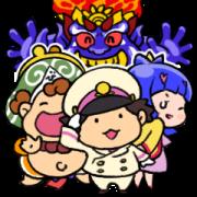 สติ๊กเกอร์ไลน์ Momotaro Dentetsu Cute Stickers