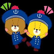 สติ๊กเกอร์ไลน์ TINY TWIN BEARS:LULU & LOLO