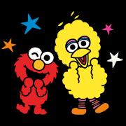 สติ๊กเกอร์ไลน์ Sesame Street ★ Happy Days