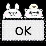 สติ๊กเกอร์ไลน์ YOSISTAMP-100% Rabbit Message Stickers