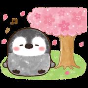 สติ๊กเกอร์ไลน์ Pastel Penguin: Spring