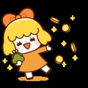 สติ๊กเกอร์ไลน์ Orange Girl! (Golden Sticker)
