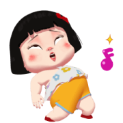 สติ๊กเกอร์ไลน์ Khing Khing Happy Girl 2