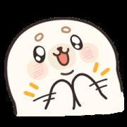 สติ๊กเกอร์ไลน์ Baby Seal A-SHU So Excited!