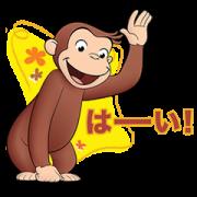 สติ๊กเกอร์ไลน์ Curious George Stickers