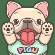 สติ๊กเกอร์ไลน์ French Bulldog-PIGU XX Big Stickers