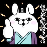 สติ๊กเกอร์ไลน์ Rabbit 100% Bushido Tales